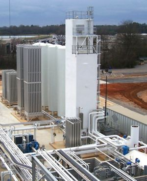 UIG supplied / UCG owned and operated onsite oxygen and nitrogen plant - Hunt Refining - Tuscaloosa Alabama
